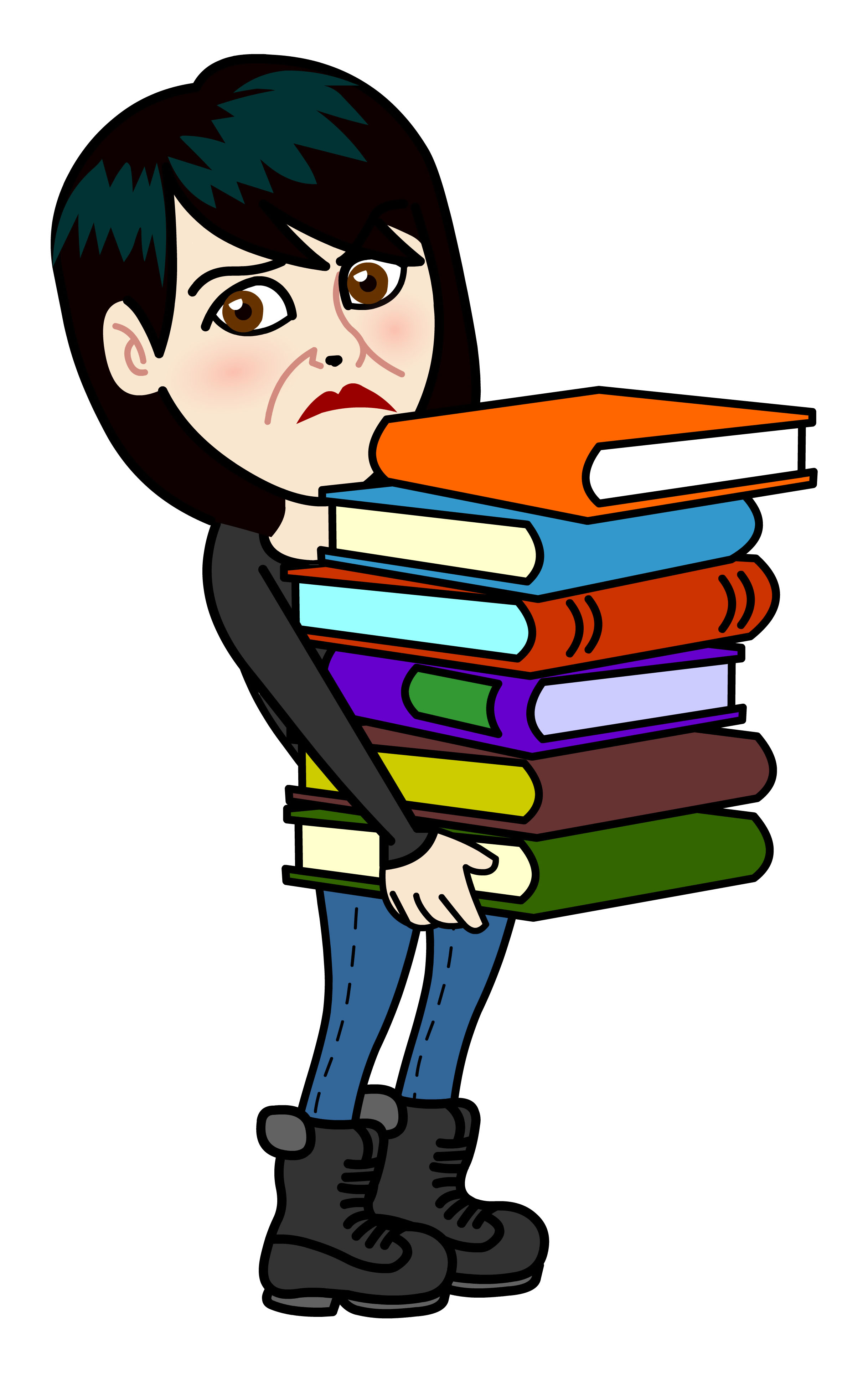 Ruth with books